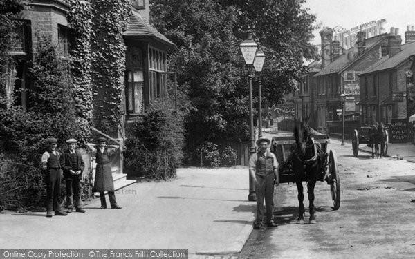 Addlestone, Boys In Station Road 1904