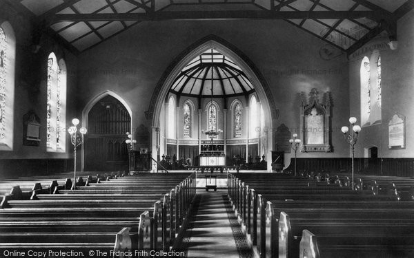 Addlestone, Church Interior 1906