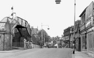 Addlestone, Station Road c.1955