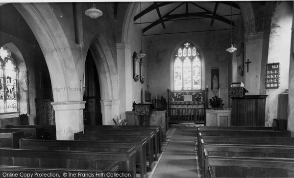 Aldborough, The Church Interior c.1955