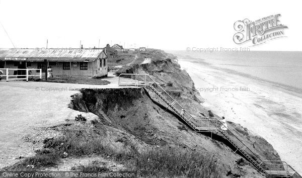 Aldbrough, The Cliffs And Beach c.1955