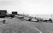 Aldeburgh, The Beach Looking North c.1955