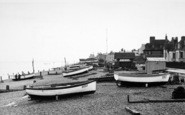 Aldeburgh, The Beach Looking South c.1955
