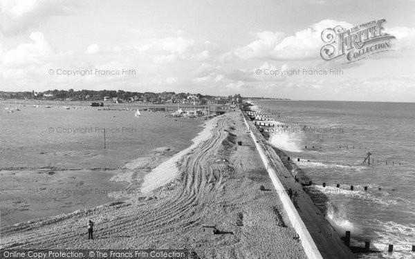 Aldeburgh, The Sea And River Alde c.1960