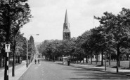 Aldershot, St George's Church From Queens Parade c.1960