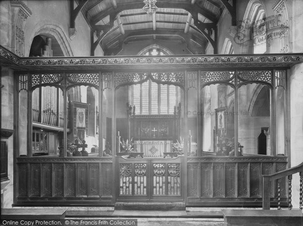 Aldershot, St Michael's Church Interior 1931
