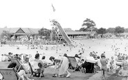 Aldershot, The Bathing Pool c.1950
