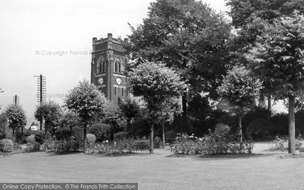 Alfreton, Watchorn Memorial Park And Church c.1955