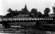 Alfriston, St Andrew's Church And Bridge c.1955