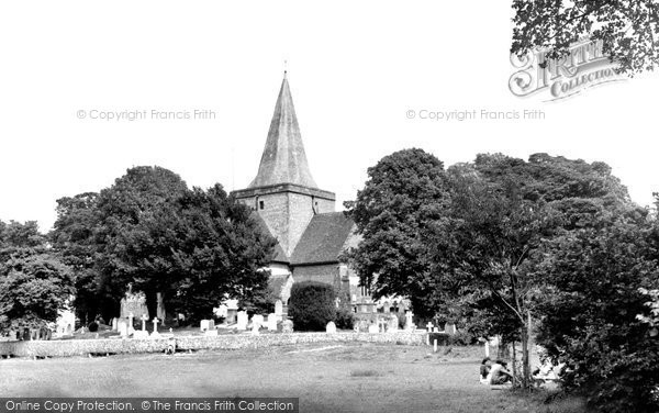 Alfriston, St Andrew's Church c.1955