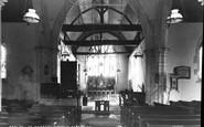Alfriston, St Andrew's Church Interior c.1960