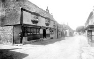 Alfriston, The Star Inn And High Street  1891