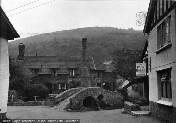 Allerford, Pack Horse Bridge c.1950