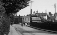 Alsager, Sandbach Road, Cyclists c.1955