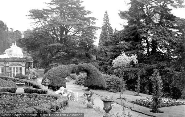 Alton Towers, The Rose Garden And Grand Conservatory 1952