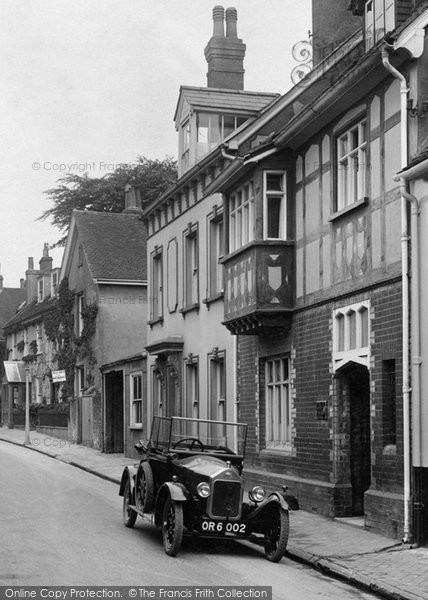 Alton, Vintage Car In Lenten Street 1928