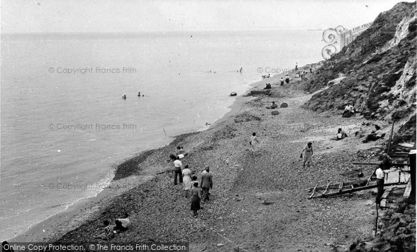 Alum Bay, The Beach c.1955