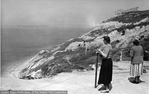 Alum Bay, The Cliffs c.1955