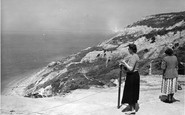 Alum Bay, The Cliffs c.1955