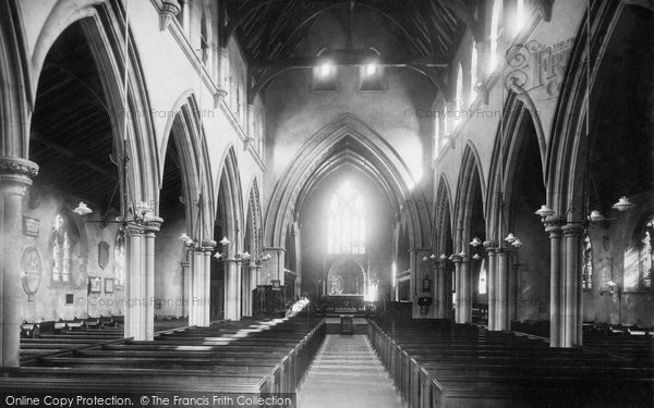 Alverstoke, St Mary's Church Interior 1898