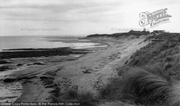 Amble, The Caravan Beach c.1955
