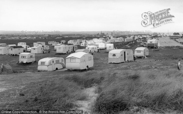 Amble, The Caravan Site c.1955