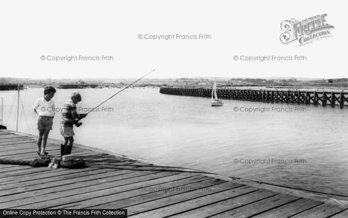 Amble, The Harbour c.1965
