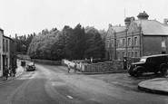 Photo of Ammanford, College Street and Police Station c1955