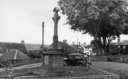 Ancrum, The War Memorial And Green c.1955