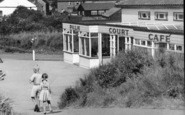 Anderby Creek, Children By The Palm Court Café c.1955