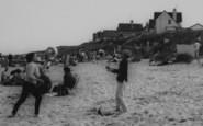 Anderby Creek, Playing Beach Ball, The Beach c.1965