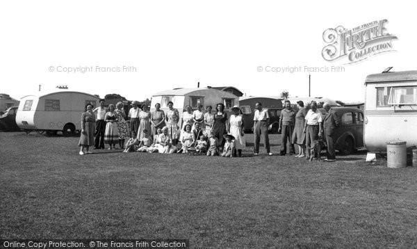 Anderby Creek, Rose's Caravan Camp c.1955