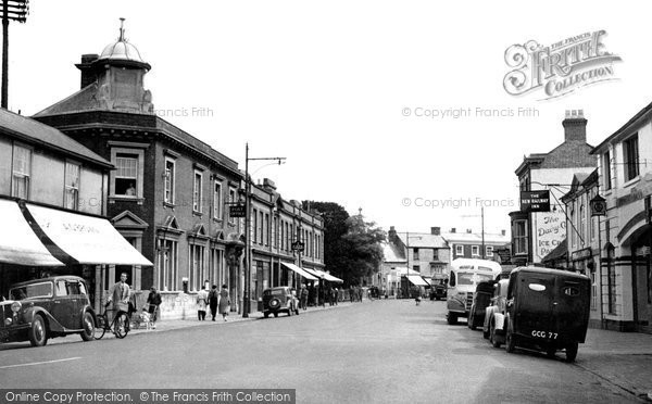 Andover, Bridge Street And The Post Office c.1950