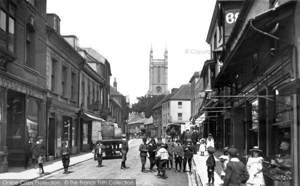 Andover, High Street 1901