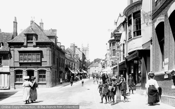 Andover, High Street 1908