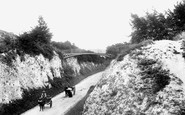 Andover, Ladies' Walk and Iron Bridge 1904