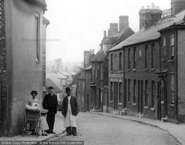 Andover, People In Winchester Street 1904
