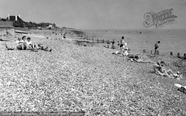 Angmering On Sea, Beach c.1955