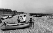 Angmering On Sea, Beach c.1955