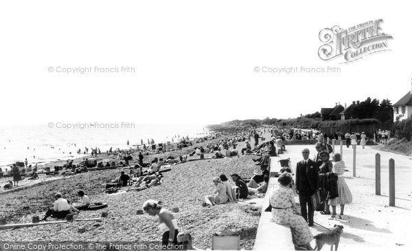 Angmering On Sea, The Beach c.1955
