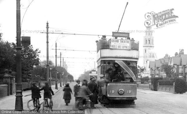 Ansdell, Tram In Clifton Drive 1923