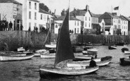 Appledore, Man In Sailing Boat 1907