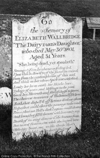 Arreton, Church, Dairyman's Daughters Grave c.1875