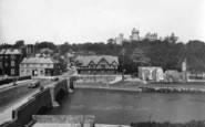 Arundel, Bridge And Castle 1936