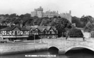 Arundel, Bridge And Castle c.1960