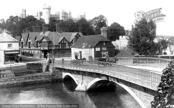 Arundel, Castle And Bridge 1902