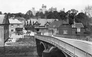 Arundel, Castle And Bridge 1923