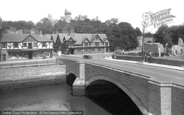 Arundel, Castle And Bridge 1939