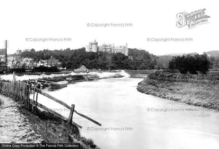 Arundel, Castle And River Arun 1923