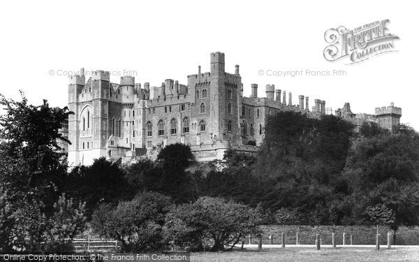 Arundel, Castle From The Meadow 1898